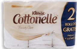 Papel Higiénico Kleenex Cottonelle Beauty Care 6 U