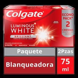Colgate Pasta Denta Luminous White Blanqueadora 2U