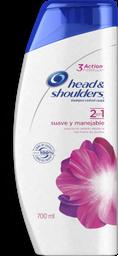 Shampoo Head & Shoulders Suave Y Manejable 2En1 - 700Ml