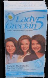 Tinte Lady Grecian Para Castaño Maltratado en Shampoo 120 mL