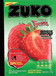 Saborizante Para Agua Zuko Sabor Fresa 15 g