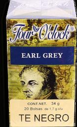 Té Negro Four O'clock Earl Grey 20 U
