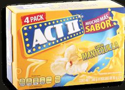 Palomitas Act II Mantequilla Para Microondas 85 g x 4