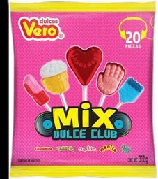 Paletas Mix Dulce Club Surtido de Paletas Vero 20 U