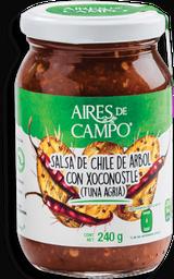 Salsa Aires del Campo Chile de Árbol Con Xoconostle 240 g
