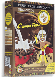 Cereal Campo Pops Chocolate Orgánico 220 g