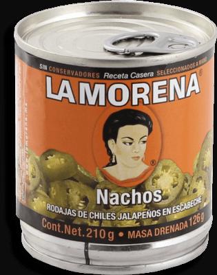 Chiles Jalapeños La Morena Nachos en Escabeche 210 g a