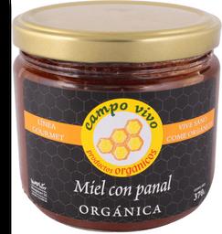 Miel Campo Vivo Con Panal Orgánica 370 g