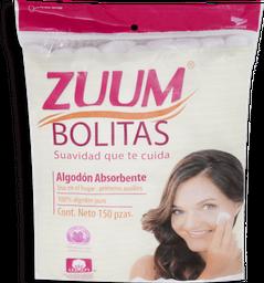 Bolitas Algodon Zuum 150Pz