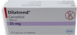 Dilatrend 14 Tabletas (25 mg)