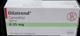 Dilatrend 14 Tabletas de (6.25 mg)