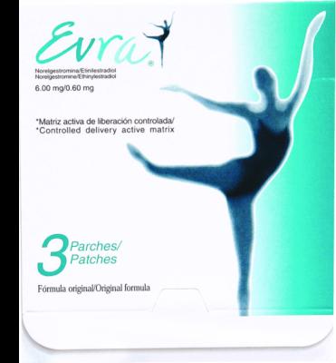 Comprar Evra Parche Transdérmico Anticonceptivo 3 Piezas Caja