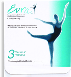 Evra Parche Cutáneo 3 U (6 mg/.6 mg)