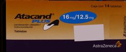 Atacand Plus 14 Tabletas (16 mg/12.5 mg)