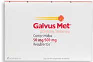Galvus Met 60 Comprimidos Recubiertos (50 mg/500 mg)