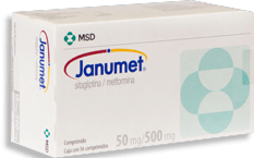 Janumet 56 Comprimidos (50 mg/ 500 mg)