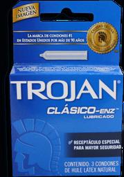 Preservativo Trojan Clásico-Enz Lubricado Látex Natural 3 U