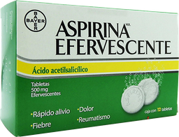Aspirina Efervescentes 12 Tabletas (500 mg)