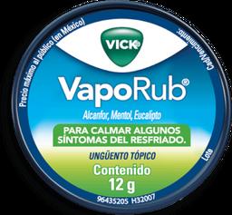 Ungüento Tópico Vick VapoRub Alcanfor Mentol y Eucalipto 12 g