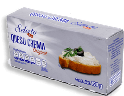 Queso Crema Selecto Original Barra 190 g
