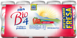 Bebida Láctea Bio4 Fresa 120 g X 5