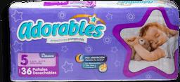 Pañales Adorables Jumbo Etapa 5 Unisex 36 U