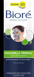 Mascarilla Bioré Facial Térmica Con Carbón Natural 4 U