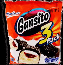 Pastelito Gansito 50 g x 3