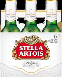 Cerveza Stella Artois Clara 6 Pzs