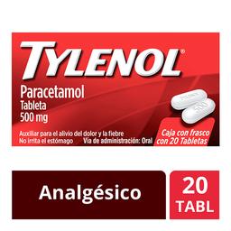 Analgésico Tylenol 20 Tabletas 500 Mg