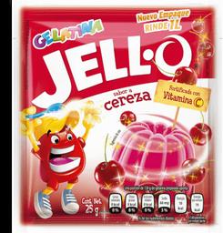 Gelatina de Agua Jell-O Sabor Cereza en Polvo 25 g