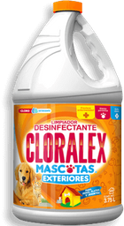 Limpiador Cloralex  Mascotas Exteriores Con Cloro 3.750  L