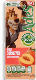 Jugo de Soya Ades Durazno 200 mL
