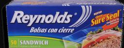 Bolsa para Sandwich Reynolds con Cierre 50 U