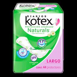 Kotex Toalla Femenina  Naturals Pantiprotector Largo
