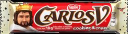 Chocolate Carlos V Cookies n Cream Barra 18 g