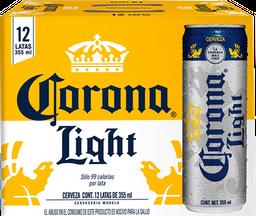 Cerveza Corona Light Lata 355 mL x 12