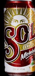 3 Pack Cerveza Lat—n Sol Michelada 473 mL