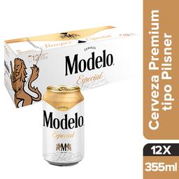 Modelo Especial Cerveza Lata 12 Pack