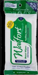 Toallas Húmedas Walfort Desinfectantes 12 U