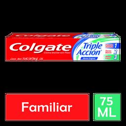 Pasta Dental Colgate Anticaries Con Fluor Triple Acción 75 mL
