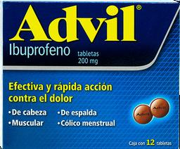 Advil 12 Tabletas (200 mg)