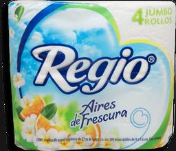 Papel Higiénico Regio Aires de Frescura Jumbo 4 U