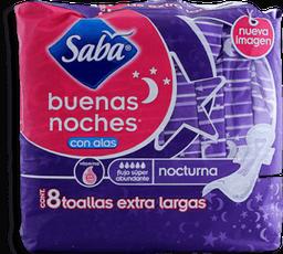 Toallas Femeninas Saba Buenas Noches 8 U
