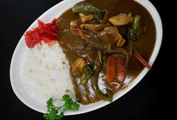 Arroz al Curry con Milanesa de Res