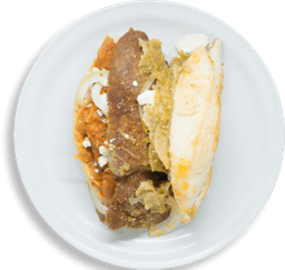 Torta de Chilaquiles con Milanesa