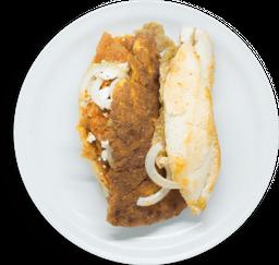 Torta de Chilaquiles con Pechuga