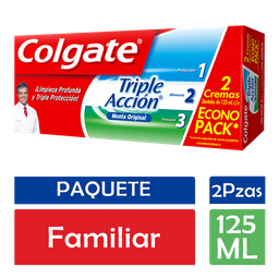 Colgate Pasta Dental Triple Acción Familiar 2 U