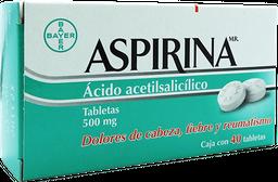 Aspirina 40 Tabletas (500 mg)
