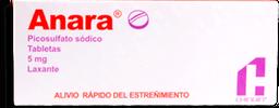 Laxante Anara 20 Tabletas (5 mg). Picosulfato Sódico
